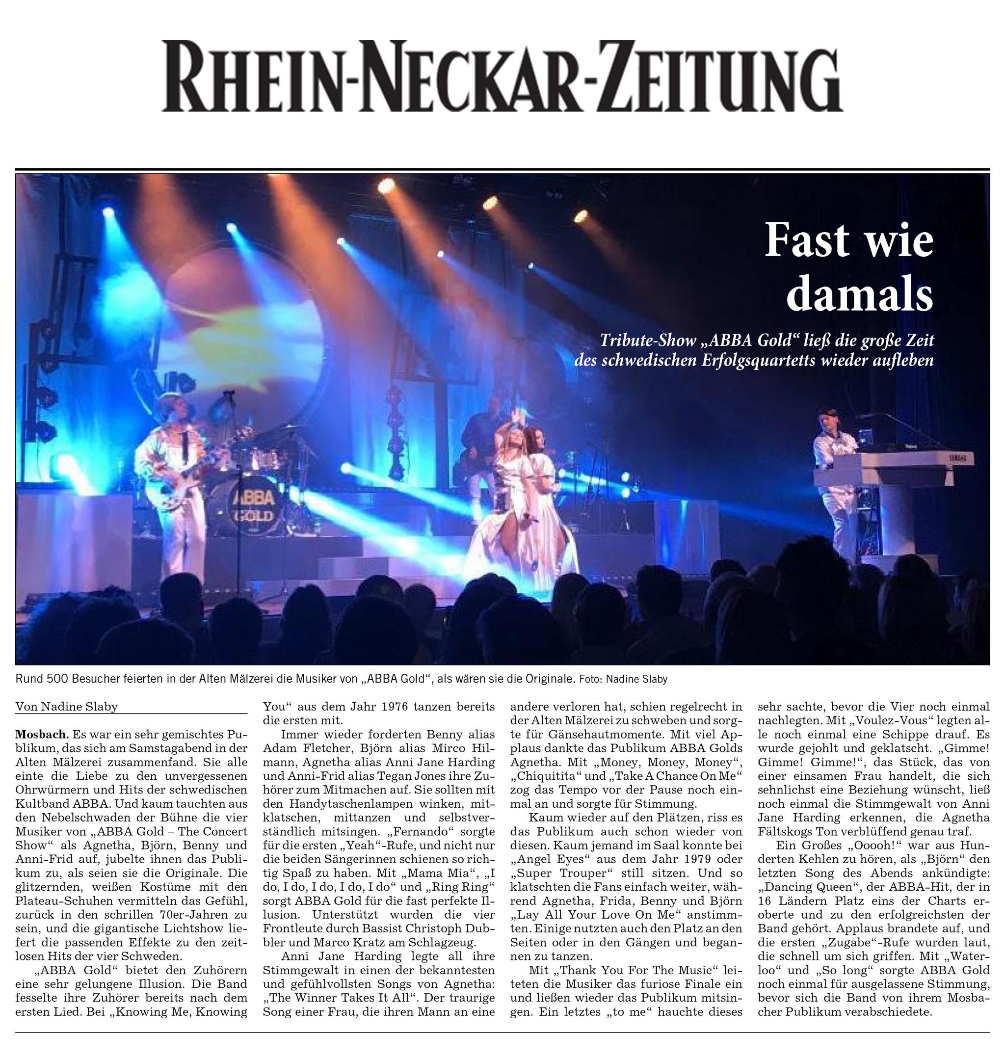 Rhein neckar zeitung gewinnspiel 2019